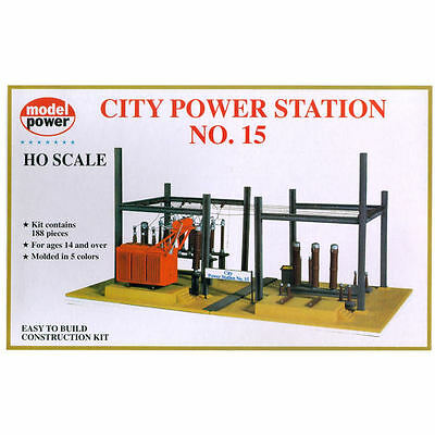 Model Power City Power Station No.15 Building Kit HO Scale - Free Shipping
