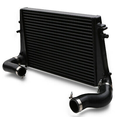 Black Aluminium Front Mount Intercooler Fmic Kit For Vw Golf Mk5 Mk6 R Gti Tfsi