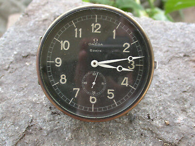 Alte Omega Borduhr Uhr 8 Days Vintage Car Boat Dashboard Clock KAL 59.8 15 Jewel