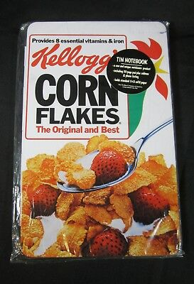 Kellogg's Corn Flakes Cereal Tin Notebook NEW in PACKAGE 1984 Made in Japan