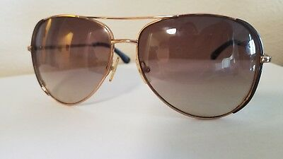 Womens Michael Kors Aviator Sunglasses with case Gold & Brown