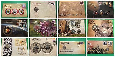 134x Australian PNC Stamp Coin Medallion Letter Collection New Rare Ltd Edition