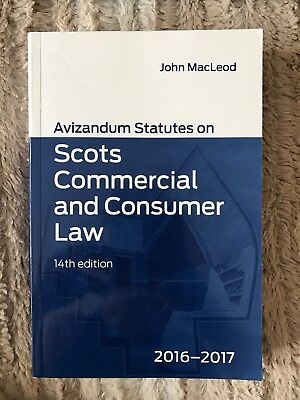 Avizandum Statutes on Scots Commercial and Consumer Law 14th edition