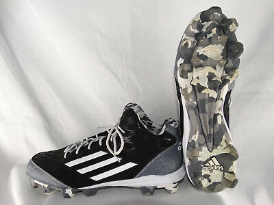 adidas Wheelhouse 3 Mid Baseball Cleats S84793 schwarz-weiß EU 46 2/3 UK 11,5