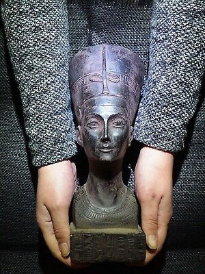 EGYPTIAN ARTIFACT ANTIQUITIES Nefertiti Akhenaten Wife Sculpture 1370–1336 BC