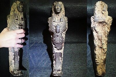 EGYPTIAN ARTIFACT ANTIQUITIES Gemenefherbak Ushabti Shawabti Shabti 664-525 BC