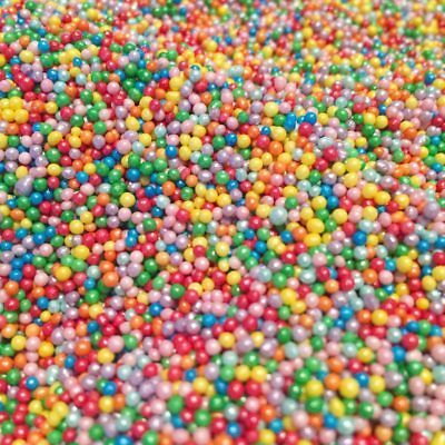 Cupcake Cake Sprinkles Shimmer Rainbow 100s and 1000s Edible Birthday Topper