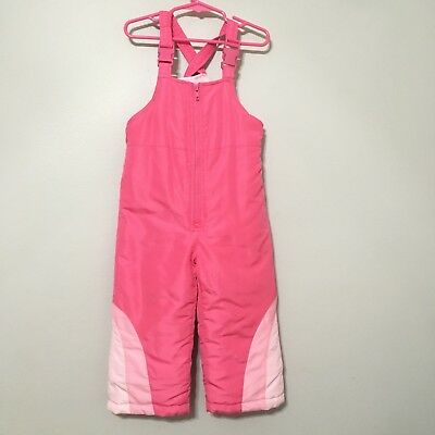 Weather Tamer size 3t Girls Pink Bib Snowpants Snow Pants