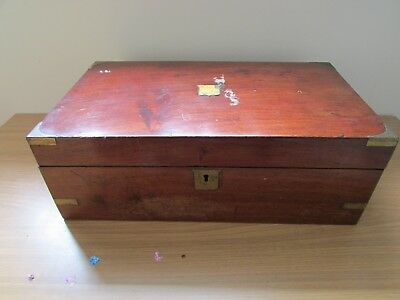 Large Victorian Writing Box. Some Restoration Required. 30x50x20cm