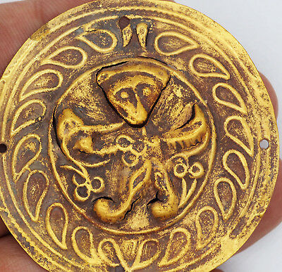 23 K MUSEUM QUALITY ANCIENT BACTRIAN GOLD PENDANT 500-800 BC #Sh1126