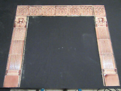 ~ Antique Tile Fireplace Surround Trent ~ 17 Pieces ~ Architectural Salvage ~