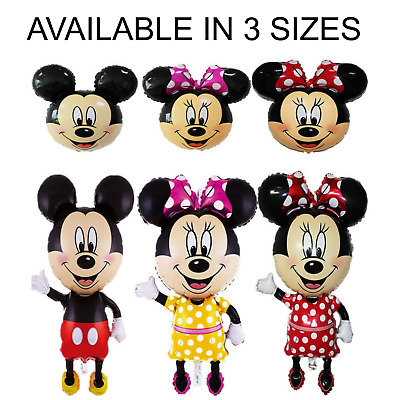 Disney Mickey/Minnie Mouse Giant Foil Balloons Kids Birthday Pannu Design Baloon