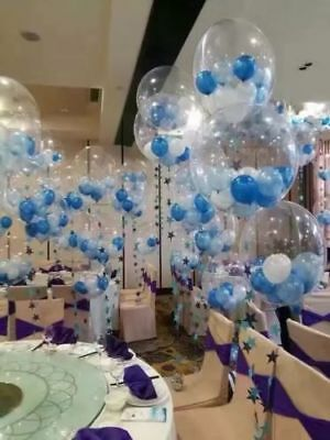"""Clear See Through Balloons 10""""-36"""" Giant Pannu Design Baloons Birthday Wedding"""