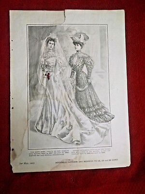 """1905 May """"Butterick Patterns"""" ad from The Delineator magazine-2 sided ad"""