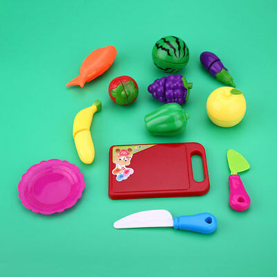12Pcs Kitchen Cutting Fruits And Vegetables Food Toys Set For Kids Children