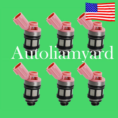 6PC Fuel Injector 16600-9S200 for Nissan Frontier Pathfinder Quest Infiniti 3.3L