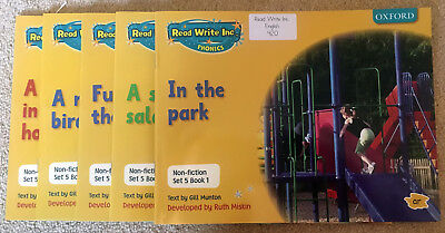 Read, Write, Inc. Set 5 Yellow Non Fiction Books Mixed Pack of 5