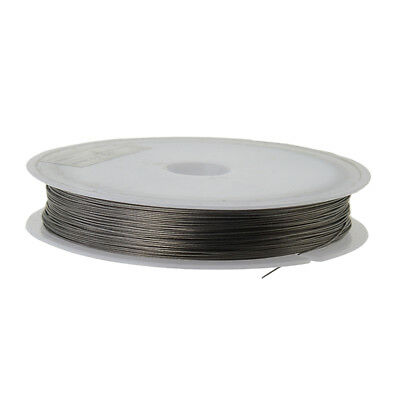 50m Steel Wire Tiger Tail Beading Wire for DIY Jewelry Making 0.38mm Silver