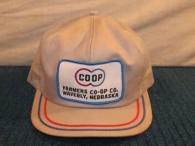 COOP Snapback Hat Farm Patch Trucker Baseball Cap Waverly Nebraska Co Op K Brand