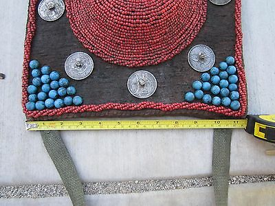"1800-1900S,TIBET 45""Lx11""H(115x28CM),Old Coins,Coral Hats, Blue Stones,NICE RARE"