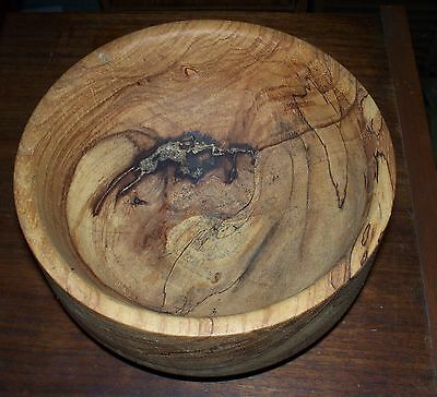 Unique Handmade Hand Turned Artist Signed Dated Wood Bowl
