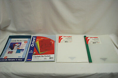 1-Lot of Assorted Brands & Colors of PROJECT FILE POCKETS (NEW) (#S8523)