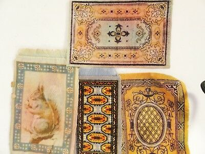 Lot 4 Antique Small Rugs..assorted
