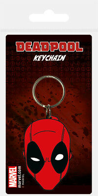 Deadpool (Face) Rubber Keychain *OFFICIAL PRODUCT* NEW, SEALED, FAST DISPATCH !