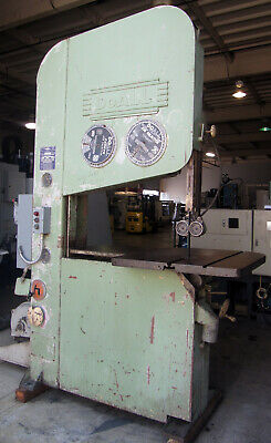 "DoALL 36"" VERTICAL METAL CUTTING BAND SAW w/ 36"" Table, 10-HP"