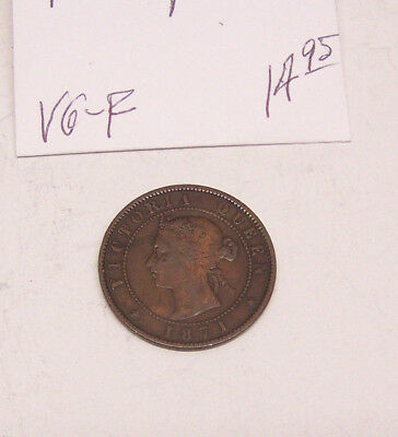 1871 Prince Edward Island - Large Cent - KM #4 - VG to FINE
