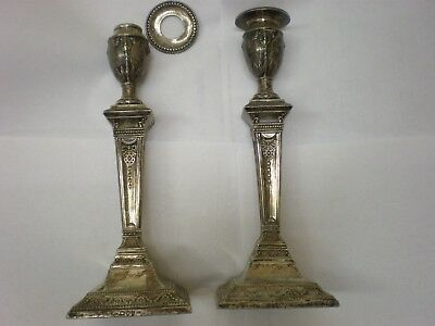 2 Sterling Silver Candle Holders, Vintage