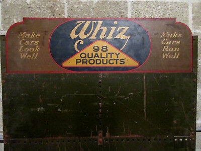 ~ Vintage Whiz Automotive Steel Display Rack Cabinet ~ Salvaged