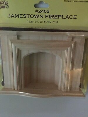 Dollhouse Miniatures Unfinished Fireplace by Houseworks, New, 1:12