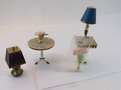 Vintage Ideal Petite Princess Fantasy Furniture Pedestal Table Lamp Flower Vase