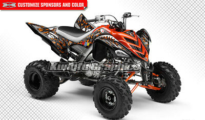Yamaha Raptor 700 Full Coverage Graphics Kit ATV Decals Stickers Wrap 2006-2012