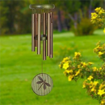 NEW Woodstock Dragonfly Wind Chime Bronze & Green Habitats Chime UK SELLER