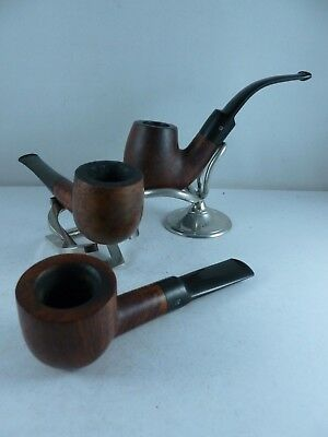 SUPERB job lot collection of 3 quality estate pipes HILSON BEWLAY BUTZ CHOQUIN