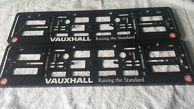 Pair Vauxhall  Number Plate Surrounds Holder Frame