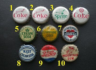 🍁 Vintage Canadian Cork Soda Bottle Caps - ✔BUY ONLY THE BOTTLE CAP YOU NEED!!