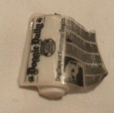 Magnetic newspaper doggy daily dollhouse miniature pet Accessory