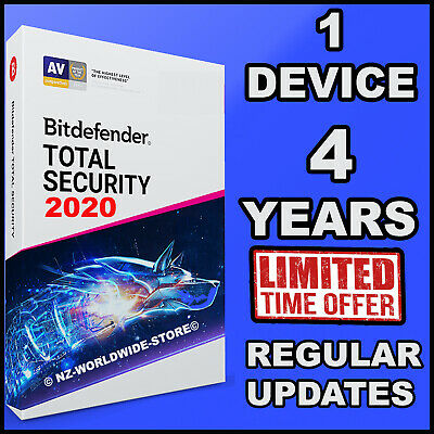 Bitdefender Total Security 2019 / 2020 - 4 Years Subscription For 1 Device