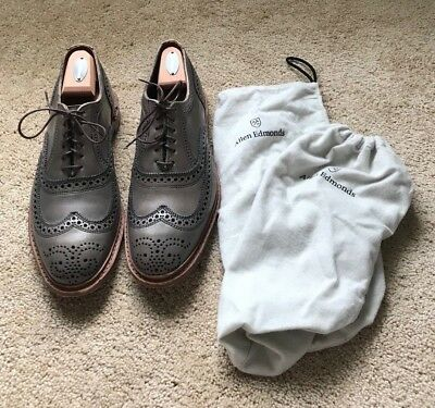 """Allen Edmonds """"NEUMOK 2.0"""" Oxfords 11D Grey with shoe trees Retailed for $320"""