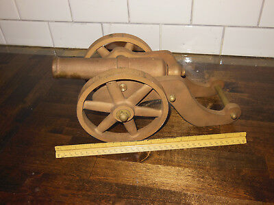 Antique Cannon Signal Cannon  Brass See pics ships