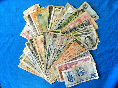 Lot of 50+ Vintage/Current Foreign Banknotes *Some Collectible*