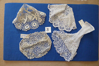 Vintage/antique Collection of Irish Crochet samples - 4 cuffs 'B'