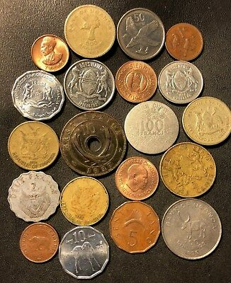 Old Africa Coin Lot - 1936-Present - 20 UNCOMMON Type Coins - Lot #717