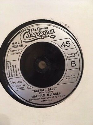 "Malcolm McLaren & The World's Famous Supreme Team-Buffalo Gals 7"" Vinyl Hip Hop"