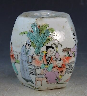 Antique Chinese Hand Painted Porcelain Paperweight