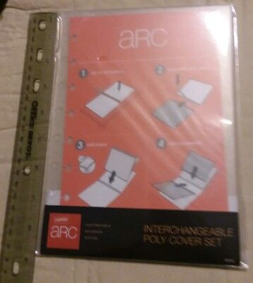 ARC Rollabind DiscBound Interchangeable PolyCover-6 1/4 X 8 3/4 Clear