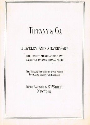 1910s Original Vintage Tiffany & Co New York Print Ad a1